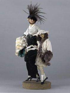 * Lafitte Désirat - Une mère et une fillette représentant Jeanne Lanvin et sa fille - 1913
