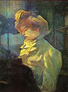 La Modiste (Mademoiselle Louise Blouet d'Enguin), Toulouse-Lautrec  1900
