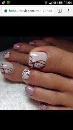 Acrylic Nail Art For More Beautiful Nails Pretty Toe Nails, Cute Toe Nails, Fancy Nails, My Nails, Pretty Toes, Gel Toe Nails, Gel Toes, Toe Nail Color, Toe Nail Art