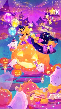 Anime Halloween, Kawaii Halloween, Cute Halloween, Halloween Themes, Holidays Halloween, Witchy Wallpaper, Halloween Wallpaper Iphone, Halloween Backgrounds, Cellphone Wallpaper