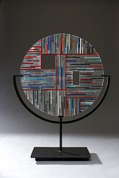 Circle #1 by Ernest Porcelli: Art Glass Sculpture available at www.artfulhome.com