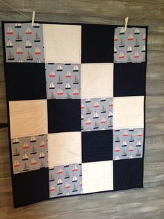 nautical baby quilt my Etsy shop https://www.etsy.com/ca/listing/489204043/nautical-baby-quilt-handmade-quilt