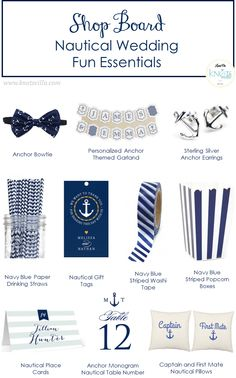 Shop Board: Nautical Wedding Items - KnotsVilla