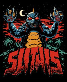I got to create the Blu-ray artwork for the re-release of trashy monster classic 'Slithis' last year! I had the BEST time drawing… Spawn, Skate Art, Creature Feature, Sci Fi Movies, Love Movie, Sci Fi Art, Horror Art, Dark Art, Cover Art