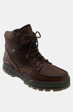 Free shipping and returns on ECCO 'Track II High' Boot (Men) at Nordstrom.com. Breathable, waterproof Gore-Tex® membrane ensures feet stay dry in a rugged lace-up boot grounded by a dual-density polyurethane sole designed to reduce stress.