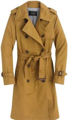 6cea5643ca0168 J.Crew Yellow City Trench Coat Size 00 (XXS) - Tradesy Size 00