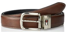 Tommy Hilfiger Men's Leather Reversible Reversible 1 inch oil tan feather edge with contrast stitch belt Best Leather Belt, Leather Belts, Leather Men, Look Good Feel Good, Reversible Belt, Wide Belts, Men's Belts, Tommy Hilfiger, Mens Fashion