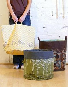 fabric totes and bins