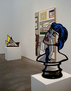 Roy Lichtenstein - some of his sculptures are completely 2D ...but devoid of canvas, you can pick up something behind it, like another painting.
