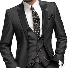 Fitting Charcoal Grey Men Suits (8) | Men's Style | Pinterest ...