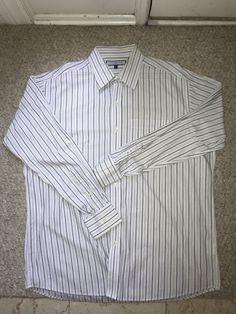 48dd50329 Tommy Hilfier Dress Shirt Button Down Size 16 1/2 34/35 L #