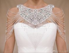 2015 Luxurious Crystal Rhinestone Jewelry Bridal Wraps White Lace Wedding Shawl Jacket Bolero Jacket Wedding Dress Beaded Bridal Winter Coat