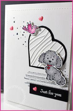 Penny Black, Valentine Love Cards, Valentines, Magenta, Dog Cards, Invitation Card Design, Animal Cards, Cards For Friends, Tampons