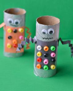 Robot Paper Tube Craft | AllFreeKidsCrafts.com