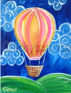 Latest Chairs For Living Room Easy Painting For Kids, Art For Kids, Kids Painting Class, Kids Canvas, Canvas Art, Kunst Party, Balloon Painting, Rock Painting, Paint And Sip