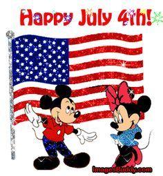 Happy of July Mickey & Minnie Happy July 4th Images, Fourth Of July Quotes, 4th Of July Photos, Happy Fourth Of July, 4th Of July Gifs, Mickey Mouse, Disney Mickey, Walt Disney, Disney Tips