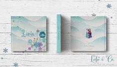 Diagramação de álbuns - Aniversário Frozen Lívia