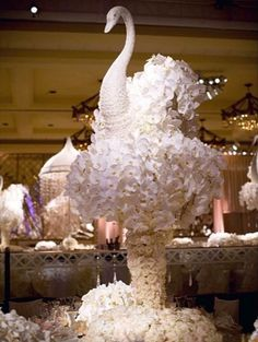 Swan shaped center Piece