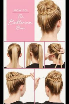 Dutch braid ballerina bun ✨