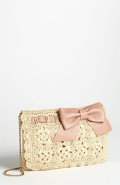 Valentino Crocheted Raffia Crossbody Bag