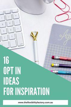 Stuck on opt in idea