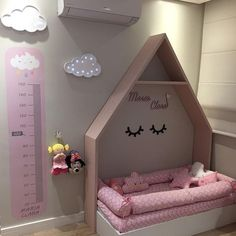 Make it feel at home and increase children's inspiration the best kids bunk design ideas # 7 42 Baby Bedroom, Baby Room Decor, Girls Bedroom, Bedroom Decor, Kids Bedroom Designs, Kids Room Design, Big Girl Bedrooms, Little Girl Rooms, Toddler Rooms