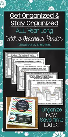 Teacher Organization Simplified! LOVE this binder system! Editable, Affordable, and Nicely Organized!