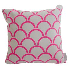 neon and neutral screen printed pillow - etsy