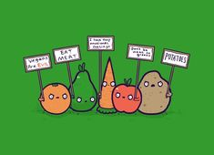 I Hate Vegans, not really! This is just the name of this shirt. I think this is so funny! (eat fruit not friends) Just For Laughs, Just For You, Funny Vegetables, Vegan Humor, Vegetarian Humor, Vegan Memes, Vegetarian Recipes, Me Anime, Anime Stuff