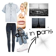"""""""A chilling day in Paris #ParisStyle"""" by zulitomlinson on Polyvore featuring Current/Elliott, Converse, LASplash, women's clothing, women's fashion, women, female, woman, misses and juniors"""