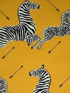 DecoratorsBest - Detail1 - Scala WP81388M-006 - Zebras - Yellow - Wallpaper - DecoratorsBest