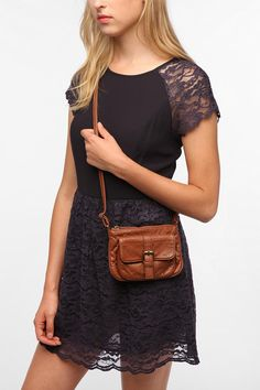 Deux Lux Buckle-Front Mini Crossbody Bag  #UrbanOutfitters