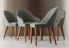 Judy bespoke dining chairs in fabric