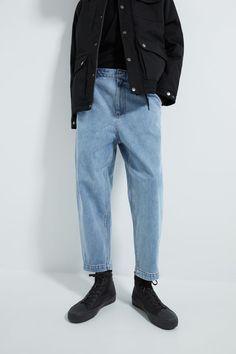 JEANS WIDE LEG - Ver Tudo-JEANS-HOMEM   ZARA Brasil Streetwear Mode, Streetwear Fashion, Stylish Mens Outfits, Cute Casual Outfits, Diy Jeans, Fashion Pants, Fashion Outfits, What Is Fashion, Vetement Fashion