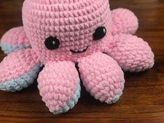 Octopus Crochet Pattern Free, Crochet Cow, Crochet Octopus, Crochet Baby Toys, Quick Crochet, Crochet Amigurumi Free Patterns, Crochet Teddy, Crochet Patterns For Beginners, Cute Crochet