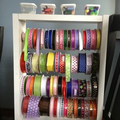 Here is a great way to organize your ribbons!