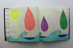 LAURA GUILLÉN 21-7-15 diario arte artista naturaleza mar  sketchbook art nature sea