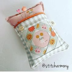 @stitcharmony is having another pincushion sale on Saturday! Follow her shop @stitcharmonyshop to purchase. She makes these adorable pincushions featuring my Tell Me A Story block. The pattern for the block is in my book, Intentional Piecing. #tellmeastoryquilt #intentionalpiecingbook