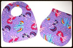 Hey, I found this really awesome Etsy listing at https://www.etsy.com/listing/199031034/my-little-pony-bib-and-burp-cloth-set