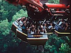 Busch Gardens Wiliamsburg - The Big Bad Wolf, another favorite coaster. Sadly it was taken out a few years ago, so I'll never get a chance to ride again.