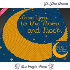 To The Moon (sc tss c2c cross stitch) | Craftsy