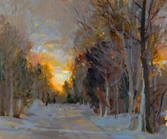 Hagan Fine Art Dawn  Whitelaw Winter Sunrise