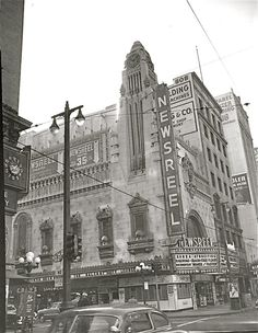 Newsreel Theater (formerly the Tower Theater) at 802 S. Broadway, downtown Los Angeles.