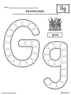 Letter G Do-A-Dot Worksheet Worksheet.The Letter G Do-A-Dot Worksheet is perfect for a hands-on activity to practice recognizing the letters of the alphabet and differentiating between uppercase and lowercase letters. Letter G Activities, Shape Tracing Worksheets, Letter Worksheets For Preschool, Preschool Letters, Alphabet Worksheets, Kindergarten Worksheets, Printable Worksheets, Reading Worksheets, Printables
