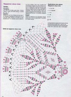 Kira scheme crochet: Scheme crochet no. Crochet Doily Diagram, Crochet Doily Patterns, Crochet Chart, Thread Crochet, Filet Crochet, Crochet Motif, Crochet Designs, Crochet Doilies, Crochet Stitches