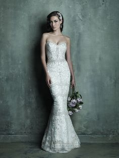 embroidered beaded wedding dresses