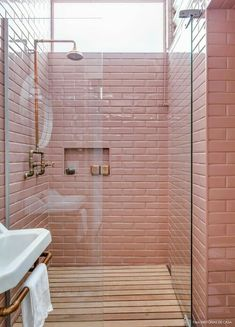 Vintage Interior Design Browse our challenging bathroom tile ideas gallery comprised subsequently forward looking bathroom tile designs and lovely tile colour schemes in each style and budget to get a suitability of what you desire for. Bathroom Tiles Pictures, White Bathroom Tiles, Bathroom Tile Designs, Bathroom Interior Design, Bathroom Pink, Bathroom Ideas, Vintage Bathroom Tiles, Ikea Bathroom, Bathroom Plants