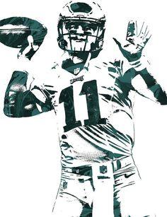 Carson Wentz Philadelphia Eagles Pixel Art Art Print by Joe Hamilton f201177a3
