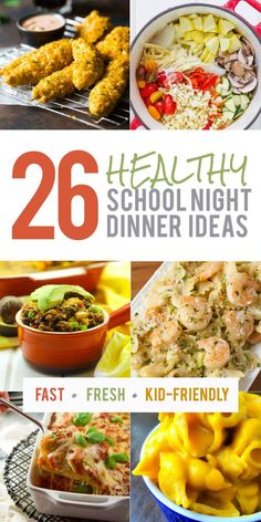 At a loss for what to serve for dinner on that crazy busy Tuesday night? No worries, this list of 26 healthy school night dinner ideas will help you out!