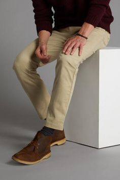 SPOKE Men's Trousers - A flawless fit, delivered - SPOKE Best Chinos, Skinny Chinos, Khaki Pants, Men's Pants, Men Trousers, Stretch Chinos, Bespoke, Drill, Fitness
